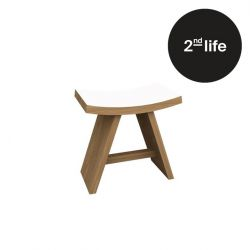 2nd Life | Shongun Stool White Satin