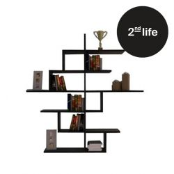 2nd Life | Bookcase Cizgi No.4 | Black