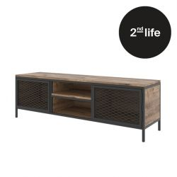 2nd Life | TV Stand Zeno | Oak Colour & Black