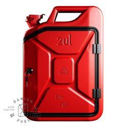Bathroom Cabinet | Gas Red + Oak