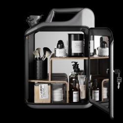 Badezimmerschrank | Grau