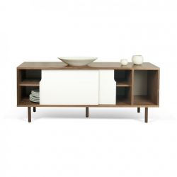Sideboard Dann | Walnut/White