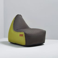 Beanbag RETROit Canvas | Dark Brown/Lime