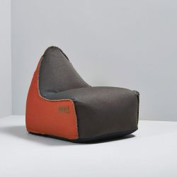 Sitzsack RETROit Canvas | Dunkelbraun/Orange