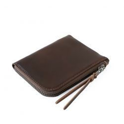 Cordovan Zip Slim Wallet | Dark Cognac Horween Shell Cordovan Leather