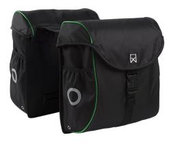 Double Bag for Bike | Black & Green