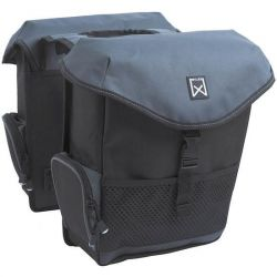 Double Bag for Bike XL | Black & Grey