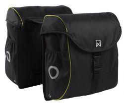 Double Bag for Bike | Black & Yellow
