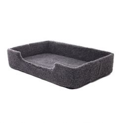 Wool Pet Bed Merino Rectangle | Black