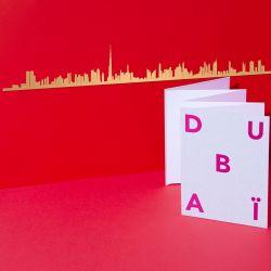 Wanddekoration Dubai Skyline Small | Gold