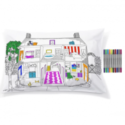 Pillowcase Doll House Decorator 75 x 50 cm