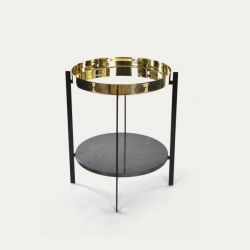 Deck Table | Brass & Indio