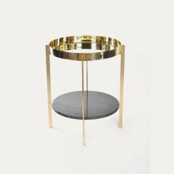 Deck Table | Double Brass & Indio