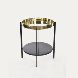 Deck Table | Brass & Marquino