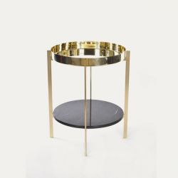 Deck Table | Double Brass & Marquino