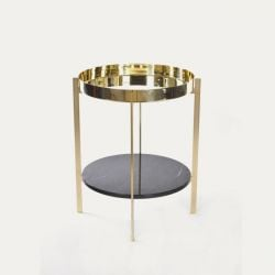 Deck-Tisch | Double Brass & Marquino