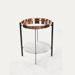 Side Table Deck | Copper & Carrara
