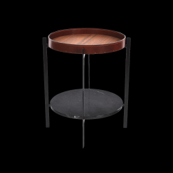 Side Table Deck | Cognac & Marquina