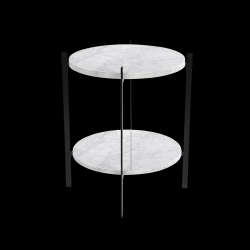 Table d'Appoint Deck | Blanc Carrara & Blanc Carrara