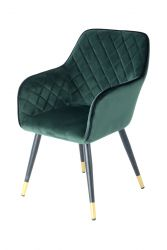 Chair Raj 733  | Dark Green-Black