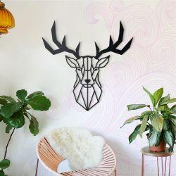 Wanddekoration Hirschkopf