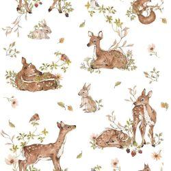 Tapete   Deer Meadow Weiß