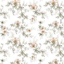 Tapete   Flowers of Wilderness Weiß
