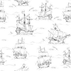 Tapete   Black & White Ships