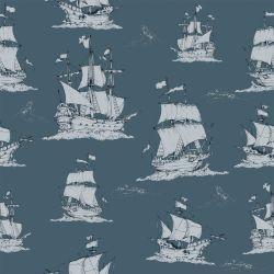 Tapete   Navy Blue Ships