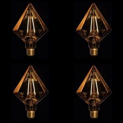 LED Lamps Set of 4 | Diamond