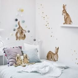Set Autocollants / Set de 5 | Happy Rabbits