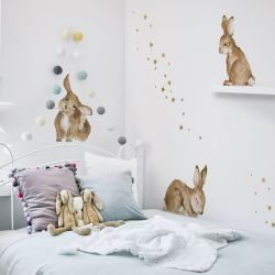 Wall Stickers / Set of 5 | Happy Rabbits