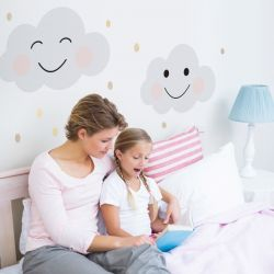 Wall Sticker Clouds Smile | Medium
