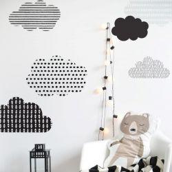Wandaufkleber Skandinavische Wolken | Medium