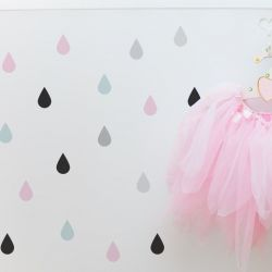 Wall Sticker Set Colourful Drops