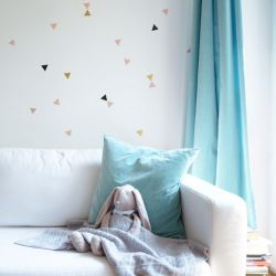 Wall Sticker Set Triangles Space