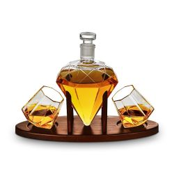 Decanter + 2 Glasses | Deluxe Diamond