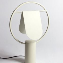 Standing Lamp Rotating Lampshade| Ivory