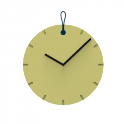 Wall Clock Big Hug | Yellow