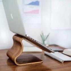 Schreibtisch-Hocker | Brauner Nussbaum