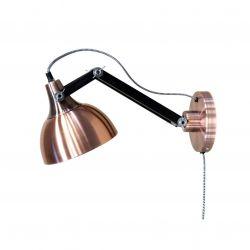 Muurlamp Dexter | Zwart & Koper