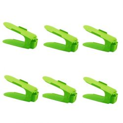 Shoe Rack Green | Set of 6