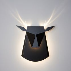 Wall Light Deer Head | Aluminium | Black