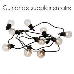 Guirlande Lumineuse Supplémentaire Lucas 10 Lampes LED | Transparent/Noir