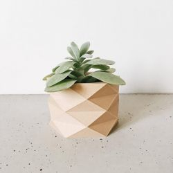 Wooden Geometrical Plant Pot Diamant
