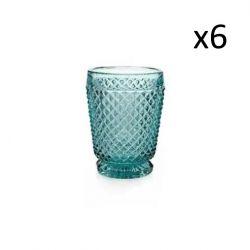 Verre Diamant Set de 6 | Bleu