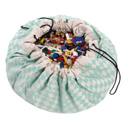 Toy Storage Bag | Green Diamonds