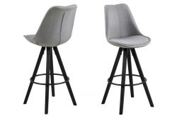 Bar Stool Nida Set of 2 Fabric | Grey
