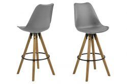 Bar Stool Nida Set of 2 | Grey