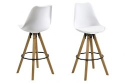 Bar Stool Nida Set of 2 | White